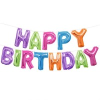 Happy Birthday Balloon Banner Kit (Air Fill Only)