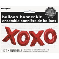Balloon Banner Kit - XOXO - (Air Fill Only)