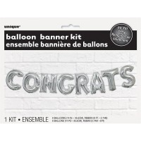 Balloon Banner Kit -CONGRATS - (Air Fill Only)