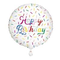 "Happy Birthday Sprinkle 18"" Foil Balloon"