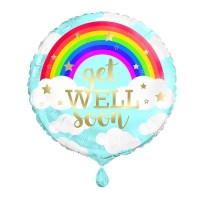 "Rainbow Get Well Soon 18"" Foil Balloon"