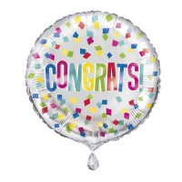 "Colourful Dots Congrats 18"" Foil Balloon"