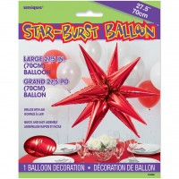 Large Red 3D Starburst Balloon 70cm.
