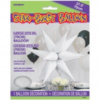 Large White 3D Starburst Balloon 70cm.