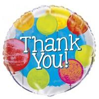 """Thank You Colourful Balloons 18"""" Foil Balloon"""