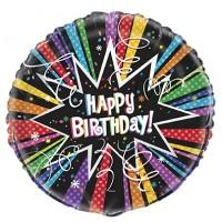 """Happy Birthday Multi-Colour with Confetti 18"""" Foil Balloon"""