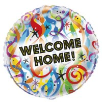 "Bright Welcome Home x5 18"" Foil Balloons"