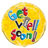 "Get Well Soon - 18"" foil"