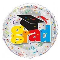 "GRAD - with Hat - 18"" Foil Balloon"