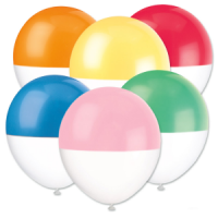 "Two-Tone Dipped 12"" Balloons Asst  6ct"