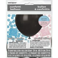 "Gender Reveal 24"" Latex Balloon With Confetti"