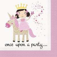 Once Upon A Party - Luncheon Napkins - Princess Unicorn - 16CT