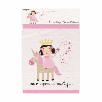 Once Upon A Party - Princess Unicorn - Loot Bags 8CT