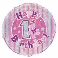 "1st Birthday Girl - 18"" Foil Balloon"