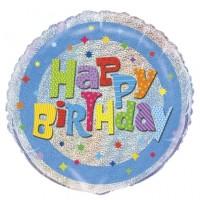 "Happy Birthday Holographic 18"" Foil Balloon"