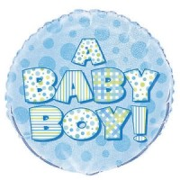 "A Baby Boy -  18"" Foil Balloon"
