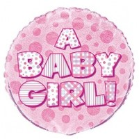 "A Baby Girl -  18"" Foil Balloon"