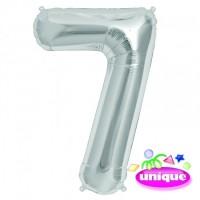 "14"" Silver Numeral 7 Foil Balloon"