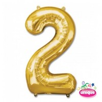 "34"" Gold Number 2 - Foil Balloon"