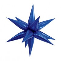 Large Blue 3D Starburst Balloon 100cm.