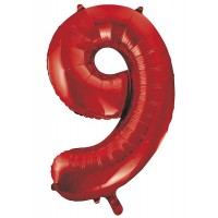 "34"" Red Number 9 Foil Balloon"