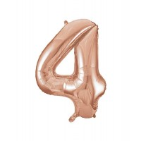 "34"" Rose Gold Number 4 foil balloon"