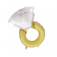 "Jumbo Wedding Ring 32"" Foil Balloon"
