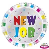 "New Job - 18"" Helium Foil Balloon"