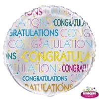 "Congratulations - 18"" Helium Foil Balloon"