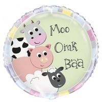 "Moo, Oink, Baa 18"" Foil Balloon"