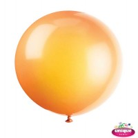 "36"" Citrus Orange Premium Balloon - Bag of 6"