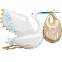 "Stork It's a Boy 62"" Foil Balloon"
