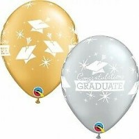 "11"" Round Silver and Gold Congratulations Graduate  25ct"
