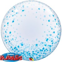 BLUE CONFETTI DOTS - DECO BUBBLE - 24""