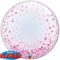 PINK CONFETTI DOTS - DECO BUBBLE - 24""