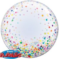 COLORFUL CONFETTI DOTS - DECO BUBBLE - 24""