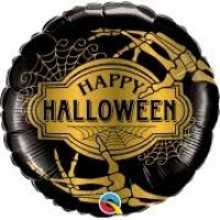 "Happy Halloween Skeleton Hands 18"" Foil Balloon"