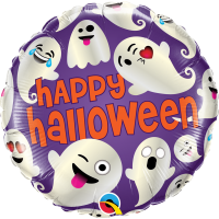 "Happy Halloween Ghosts 18"" Foil Halloween"