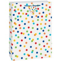 "Rainbow Polka Dot - Gift Bag Jumbo 22.5""H x 13.75""W"
