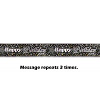 Glittering Birthday Foil Banner 12ft.