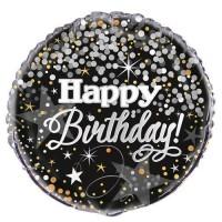 "Happy Birthday - Glittering - 18"" Foil Balloon"