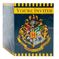 Harry Potter Plastic Invitations 8ct