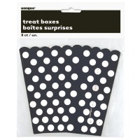 Midnight Black. Dots Treat Boxes 8 CT.