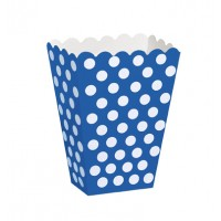 Royal Blue. Dots Treat Boxes 8 CT.
