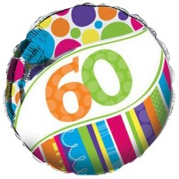 "60th - 18"" Foil Balloon"