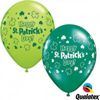 "St. Patricks Day 11"" St. Patricks Day! 11"" Latex Balloons - Lime Green & Emerald Green (25ct)"