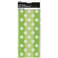 Lime Green. Dots Cello Bags 20 CT.