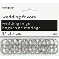 Silver Wedding Rings - Wedding Favours 24 CT.