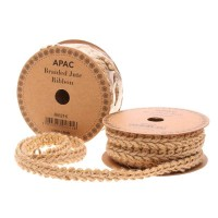 Natural Braided Ribbon (17mm x 5yds)