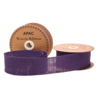Purple Woven Ribbon (50mm x 10yds)